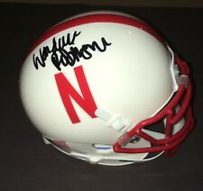 WITH PROOF! WANDALE ROBINSON Signed Autographed NEBRASKA CORNHUSKERS Mini Helmet