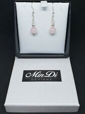 Handmade earring set with Sterling Silver & Rose Quartz