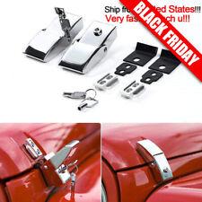 Aluminum Hood Lock Assembly Locking Hood Latches for Jeep Wrangler JK 07+ Chrome