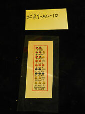 WATLING REPRO AWARD CARD FOR ANTIQUE SLOT MACHINE #27-AC-10