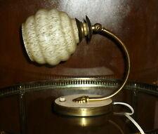LAMPE APPLIQUE ART DECO BAUHAUS DESIGN ALLEMAND 1930 Laiton rotule