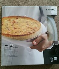 "Lekue Silicone 11"" Quiche Pan DUO CERAMIC & SILICONE NEW"