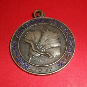 Northern California Golf Association 1947 Intercollegiate Sterling Silver Medal