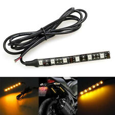 6LED Mini 5050SMD 10cm Strip Motorcycle Turn Signal Yellow Flexible Light Strip