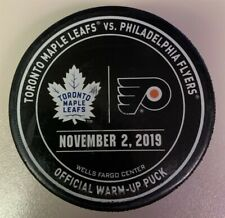 Philadelphia Flyers Game Used NHL Warm Up Puck 11/2/19 Vs Toronto Maple Leafs