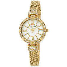 Anne Klein Mother of Pearl Dial Ladies Gold-Tone Watch and Jewelry Set 2844GBST