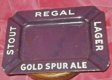 Regal Stout Lager Gold Spur Ale Beer Vintage Metal Ashtray New Orleans La