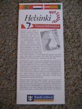 Helsinki Finland, Royal Caribbean, Port Explorer, Map / Brochure, 1998