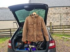 Barbour Men's International V Tech Wax Jacket - Tan: size, mens small.