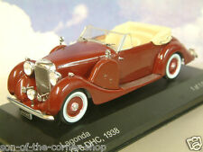 Excelente Whitebox Modelos Diecast 1/43 1938 Lagonda LG6 DHC en Granate Rojo WB113