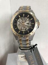 Bulova Men's Skeleton Automatic Two Tone Stainless Steel Bracelet Watch 98A146