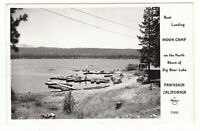 1947 RPPC FAWNSKIN CA MOON CAMP BIG BEAR LAKE VINTAGE POSTCARD CALIFORNIA CARS !