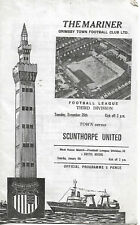 Grimsby Town v Scunthorpe United Division 3 Dec 26th 1972 programme good