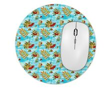 Light Blue Round Mouse Pad Mice Mat For Laptop Notebook Computer PC Gaming