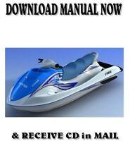 Yamaha VX1100 VX 110 Sport Cruiser factory repair service manual on CD (2005-09)