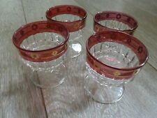 4 verres à liqueur ou verrine vintage Hauteur 7 cm diamètre 6.5 cm