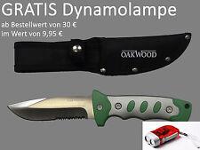 Fahrtenmesser Hochwertig Glatt- und Sägeschnitt  Messer Outdoor von OAKWOOD LFGB