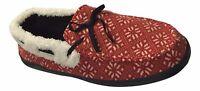 URBAN PIPELINE Men's M L XL Red White Nordic Print Slip On Moccasins Slippers