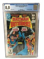 Batman & The Outsiders 1 - CGC Graded 8.0 - 2nd Appearance Of The Outsiders