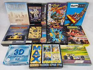 11 x Commodore Amiga Big Box Games. Zool, Street Fighter 2 etc... Job Lot Bundle