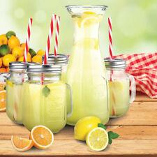 New Listing5-Piece Mason/Glassware Beverage Set