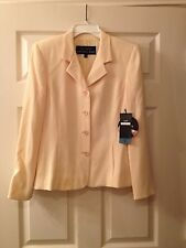 ALEX GARFIELD - GARFIELD & MARKS Suit Coat - Maize Yellow Ribbed - Size 4