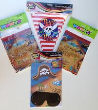 2 x Pirate Party Table Cloths 132cm x 182cm 1 x Pirate 4m Bunting Pirate Game BN