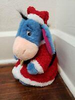 """Disney Store Exclusive Santas Helpers 12"""" Eeyore Christmas Plush"""