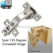 135°Corner Folded/Folden Kitchen Cabinet/Cupboard Door Hinge Nickel-Plated 1Pair