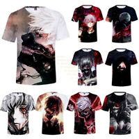 Anime Tokyo Ghoul Print 3D T-Shirt Women Men Casual Cool Short Sleeve Tee Shirt