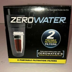 Zero Water 2 Pack Portable 5 Stage Filtration Travel Bottle Filters New in Box