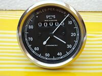 Speedometer Royal Enfield Motorcycle 0-80 MPH Black