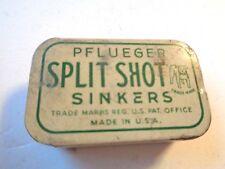 Vintage Pflueger Split Shot Sinkers Tin