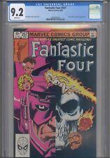 Fantastic Four #257 CGC 9.2 1983 Marvel Scarlet Witch & Galactus App  John Byrne