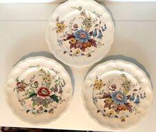 "3 Copeland Spode Great Britain Raeburn 10.5"" Dinner Plates Floral Flowers"