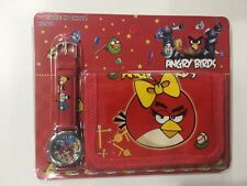 Children Kids Boys Red Angry Birds Wallet & Watch Toy Play Gift Set