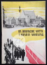 ANDRZEJ MUNK Un dimanche matin VARSOVIE Ville Sociale Documentaire DP 1955