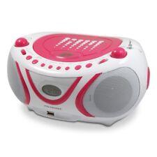 Radio CD-MP3 USB FM Pop Pink - rose et blanc