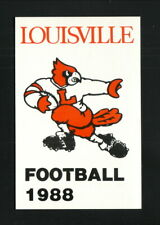 Louisville Cardinals--1988 Football Pocket Schedule--AmeriCall