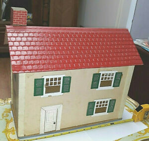 """OLD VINTAGE HTF 1/2"""" 3/4"""" SCALE KNOCK DOWN SCHOENHUT TOY DOLLHOUSE DOLL HOUSE"""