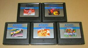 Lot of 5 Atari 5200 Games Pac-Man, Super Breakout, Soccer, Football, Baseball