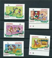 5 Stamps Lot S52 LESOTHO MNH VF RARE Tab Mark Old Christmas 1983 Wolt Disney Set