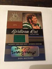 2003 Donruss Gridiron Kings Don Maynard 37/50 Autograph Jersey New York Jets