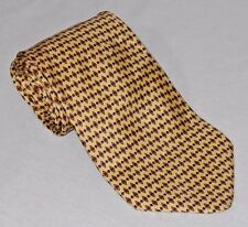 Seville Row Men's Neck Tie Gold Diamond Pattern 100% Silk   (C10)