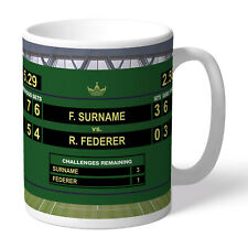 More details for personalised tennis mug. cup customised with name. wimbledon fan birthday gift