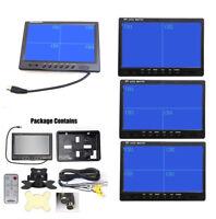 "Set 9"" TFT LCD Split Screen Quad Monitor Security Car Headrest Rear View Display"