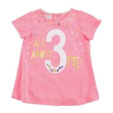 Mud Pie E8 Baby Toddler Girl Birthday Age Tunic T-shirt Pink/blue - Choose 3t