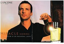 Publicité Advertising 2001 (2 pages) Parfum pour homme Miracle de lancome
