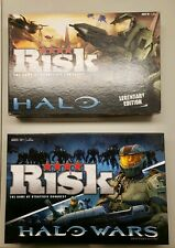 Halo Risk Legendary Edition & Halo Wars Board Game Lot~Hasbro~Xbox 360~Miniature