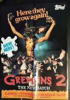 GREMLINS 2 PROMO POSTER THE NEW BATCH 1990 TOPPS TRADING CARDS NICE